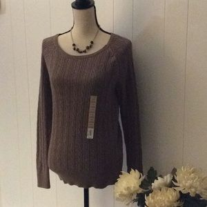 NWT SONOMA CABLE SWEATER (X)